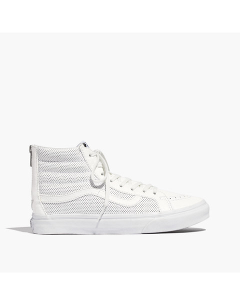 Vans® SK8-Hi Slim Zip High-Top Sneakers in Perforated Leather 7ce7f938b