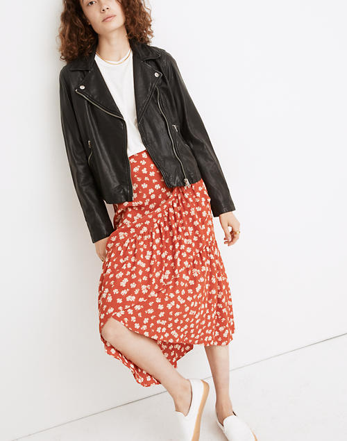 pretty nice outlet store quality Women's Washed Leather Motorcycle Jacket | Madewell