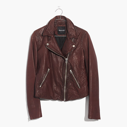 Washed Leather Motorcycle Jacket