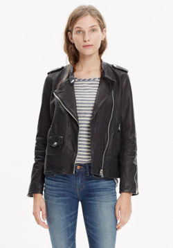 Washed Leather Swing Jacket