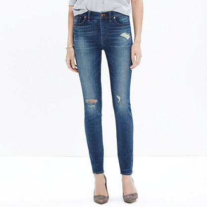 "9"" High-Rise Skinny Jeans in Bristol Wash"