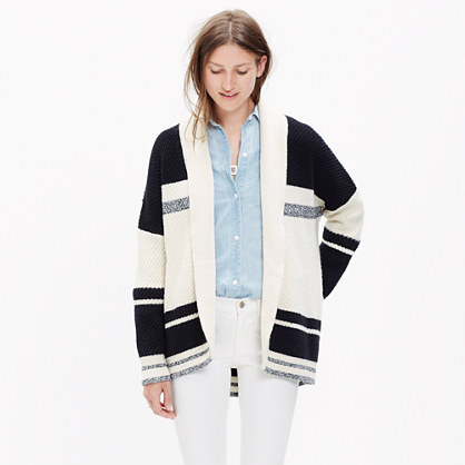 Striped Cocoon Cardigan Sweater : cardigans & sweater-jackets ...