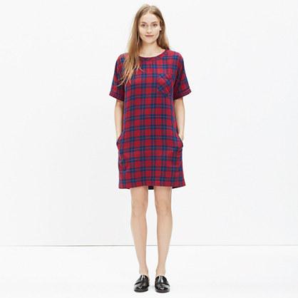 Short-Sleeve Dress in Edina Plaid