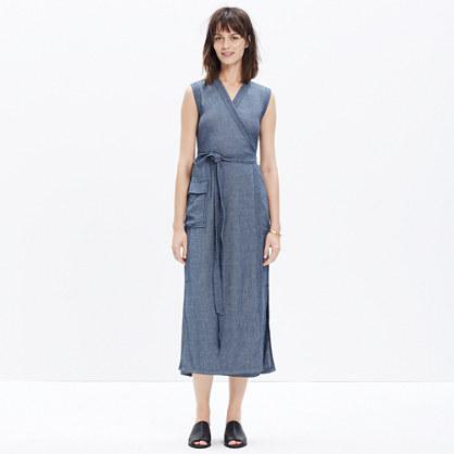 Indigo Kimono Wrap Dress