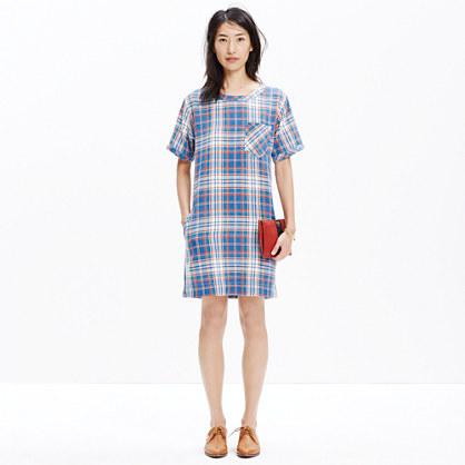 Short-Sleeve Dress in Masmodil Plaid