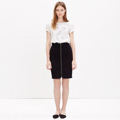 Denim Zip Pencil Skirt : mini | Madewell