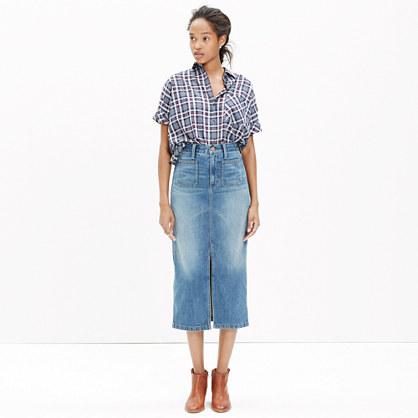 a0fe42d0b9 Shoptagr | Denim Midi Skirt by Madewell