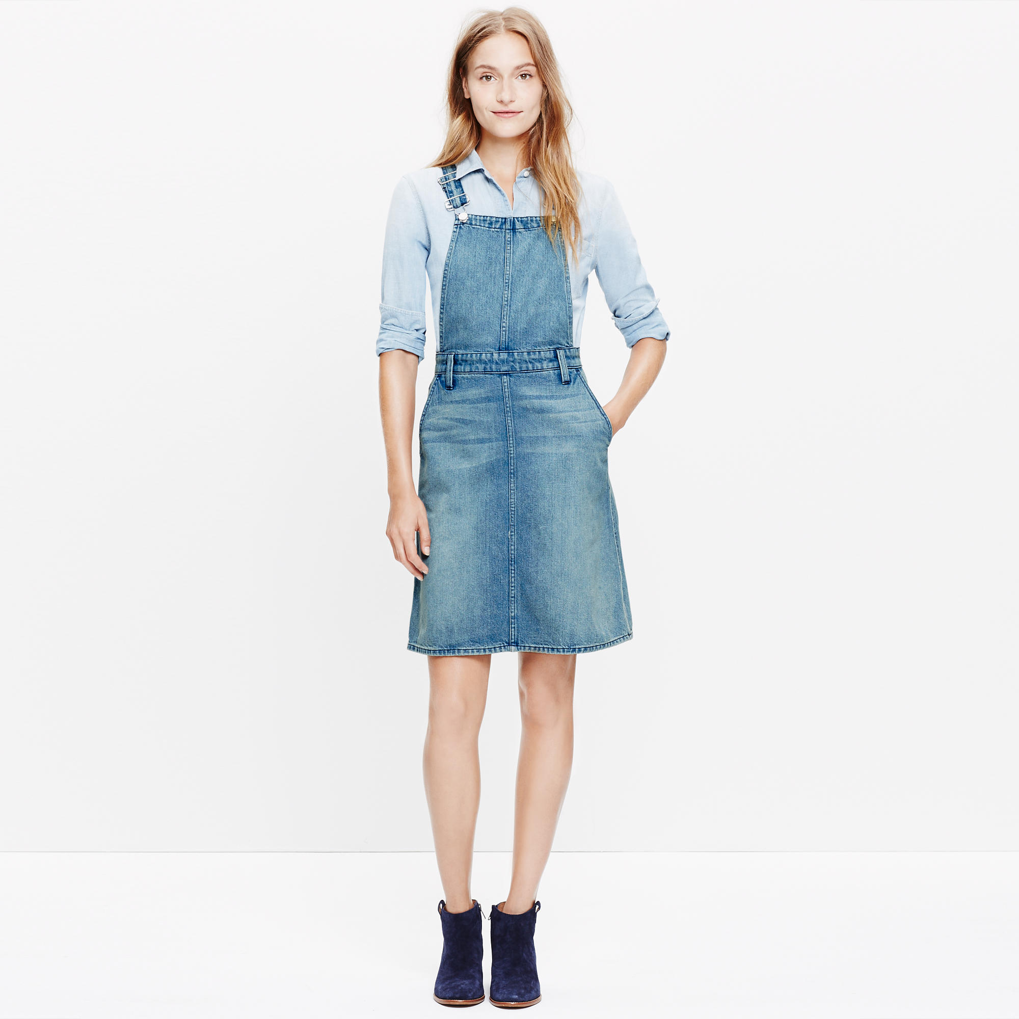 Denim Jumper Dress : casual dresses | Madewell