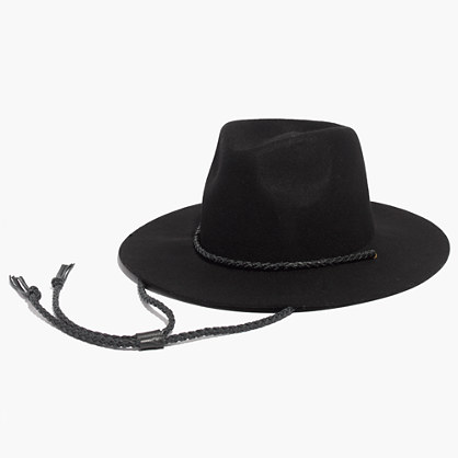 Felt Fedora with Leather Cord