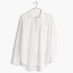 Oversized Boyshirt in Pure White
