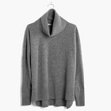 Merino Turtleneck Sweater - HTHR GREY