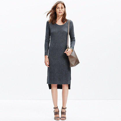 Side-Slit Sweater-Dress : casual dresses | Madewell