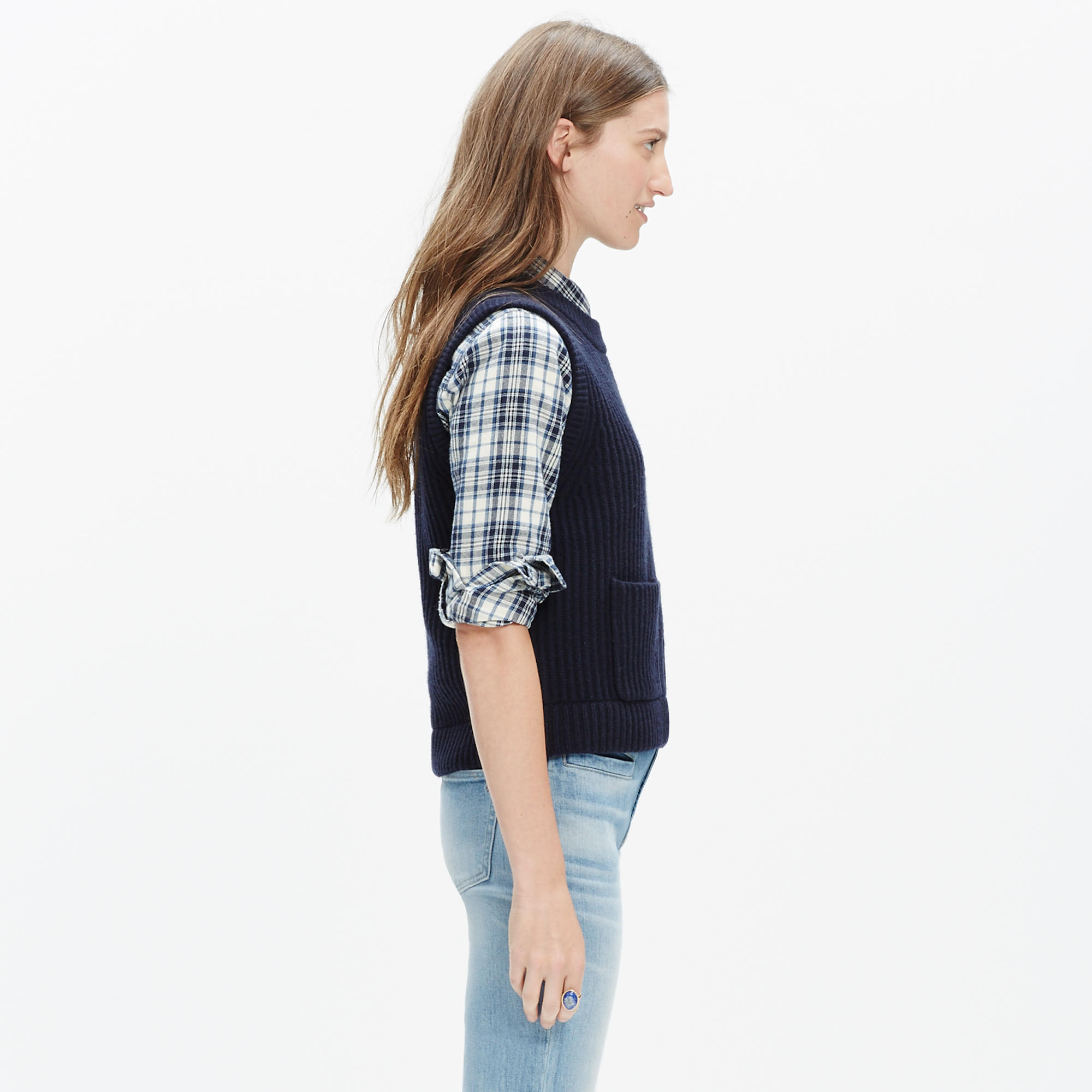Merino Ribbed Sweater-Vest : pullovers | Madewell