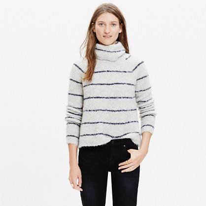 Roundtrip Turtleneck Sweater in Stripe