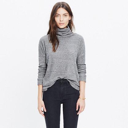 Cotton-Silk Turtleneck Top