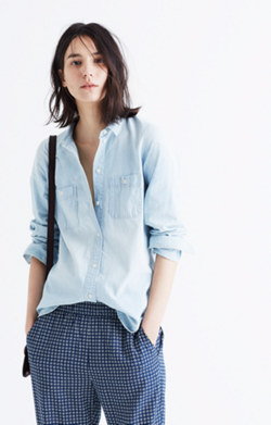 Slim Ex-Boyfriend Shirt in Chambray