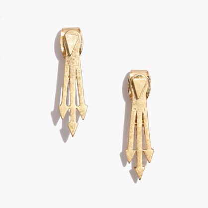 arrowback sided earrings earrings madewell