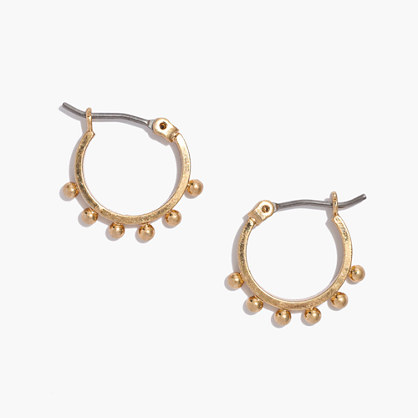 Pinpoint Hoop Earrings