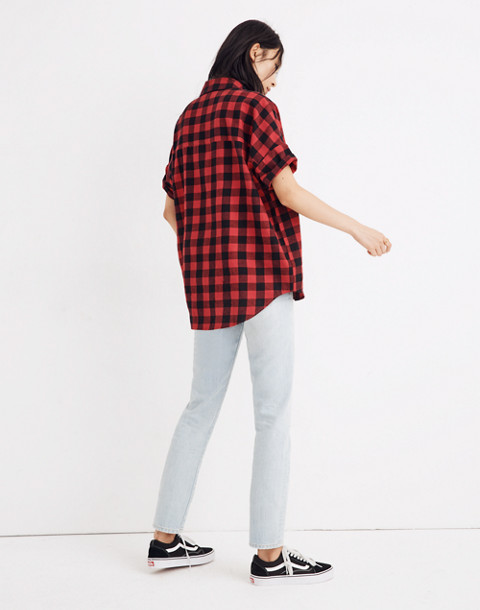 Flannel Courier Shirt in Buffalo Check in black buffalo check image 2