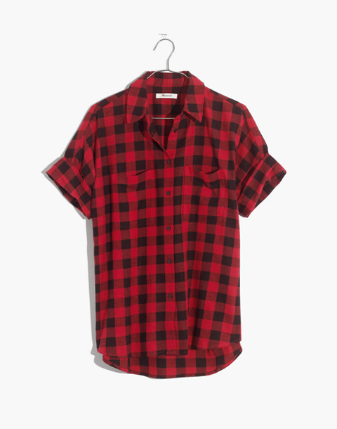 Flannel Courier Shirt in Buffalo Check in black buffalo check image 4
