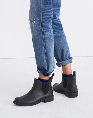 The Chelsea Rain Boot in true black image 2