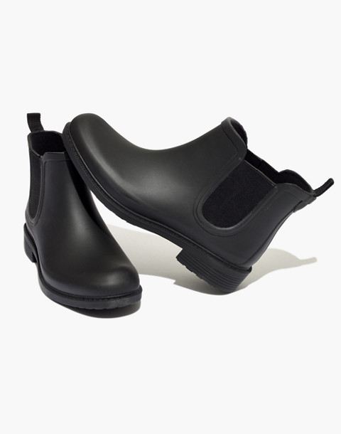 The Chelsea Rain Boot in true black image 1