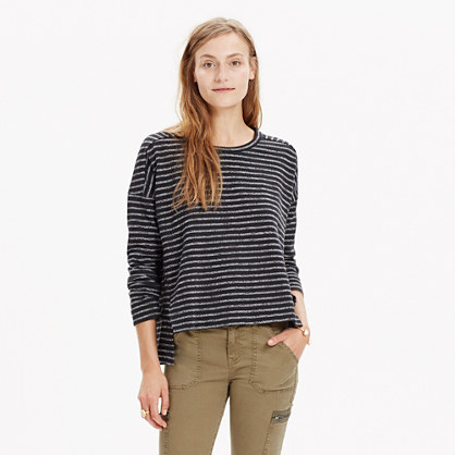 Marled Stripe Top