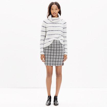 Shirttail Mini Skirt in Grid Check
