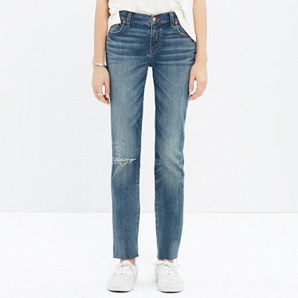 Alley Straight Crop Jeans: Drop-Hem Edition