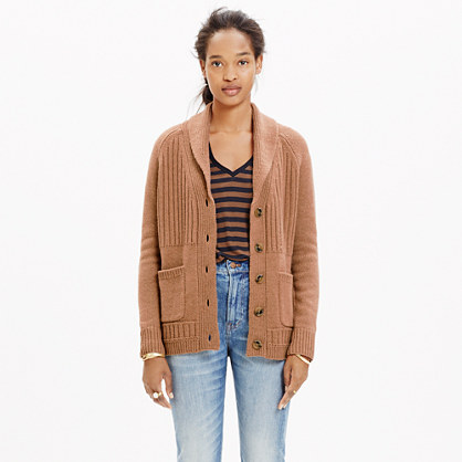 Shawl-Collar Rib Cardigan Sweater : cardigans & sweater-jackets ...