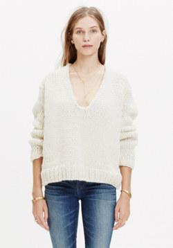 Anaak™ Handknit V-Neck Sweater