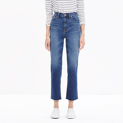 """11"""" High-Rise Crop Flare Jeans"""