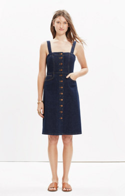 Denim Overall Dress in Matilda Wash