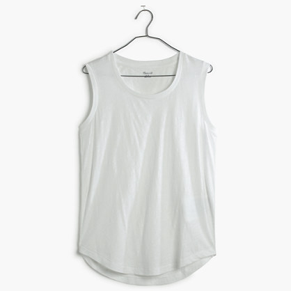 Whisper Cotton Crewneck Muscle Tank