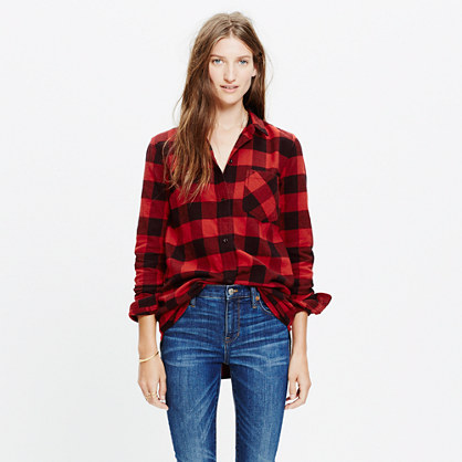 Flannel Ex-Boyfriend Shirt in Buffalo Check
