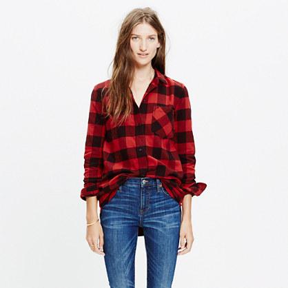 Flannel ex boyfriend shirt in buffalo check boyshirts for Buffalo check flannel shirt jacket