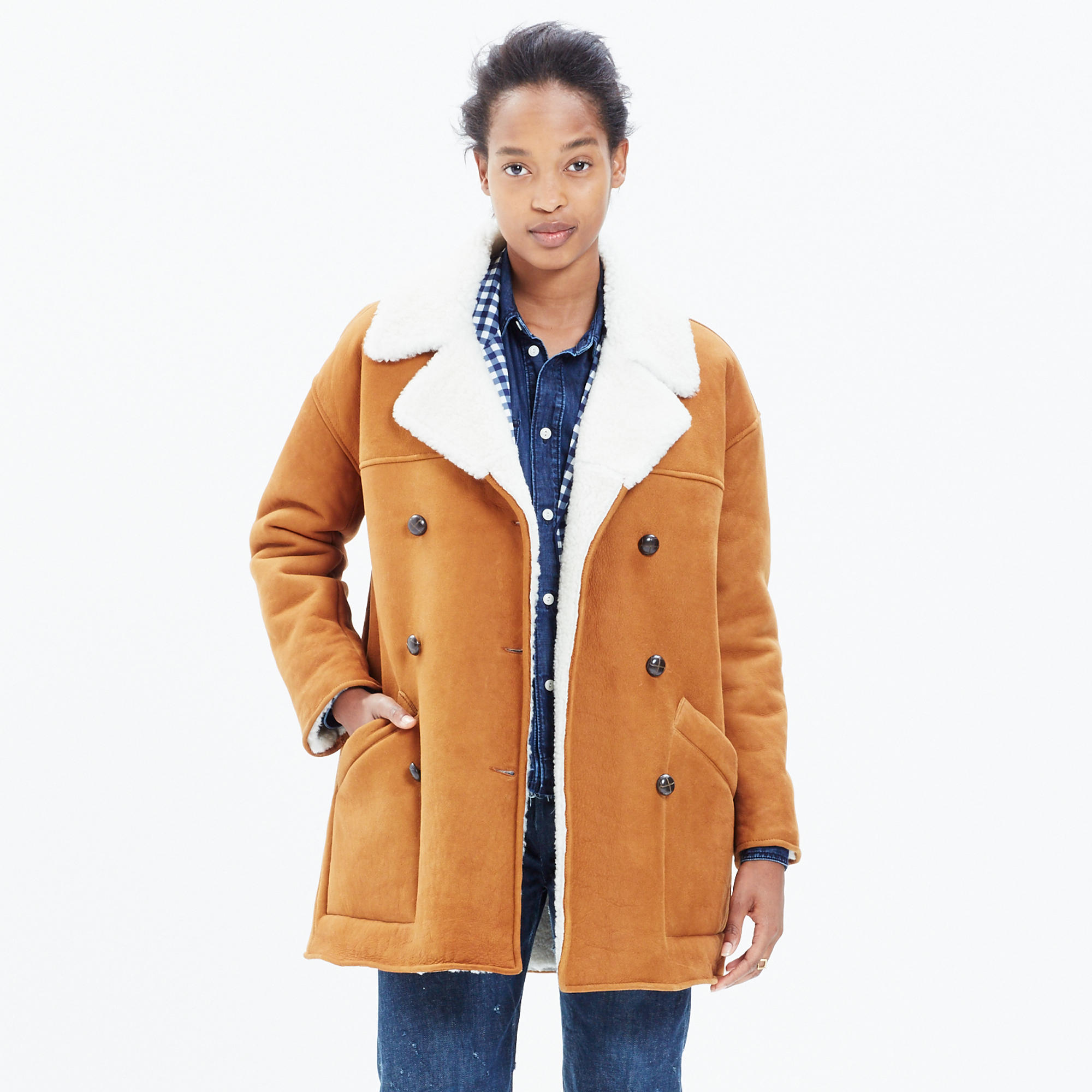 Shearling Car Coat : coats | Madewell