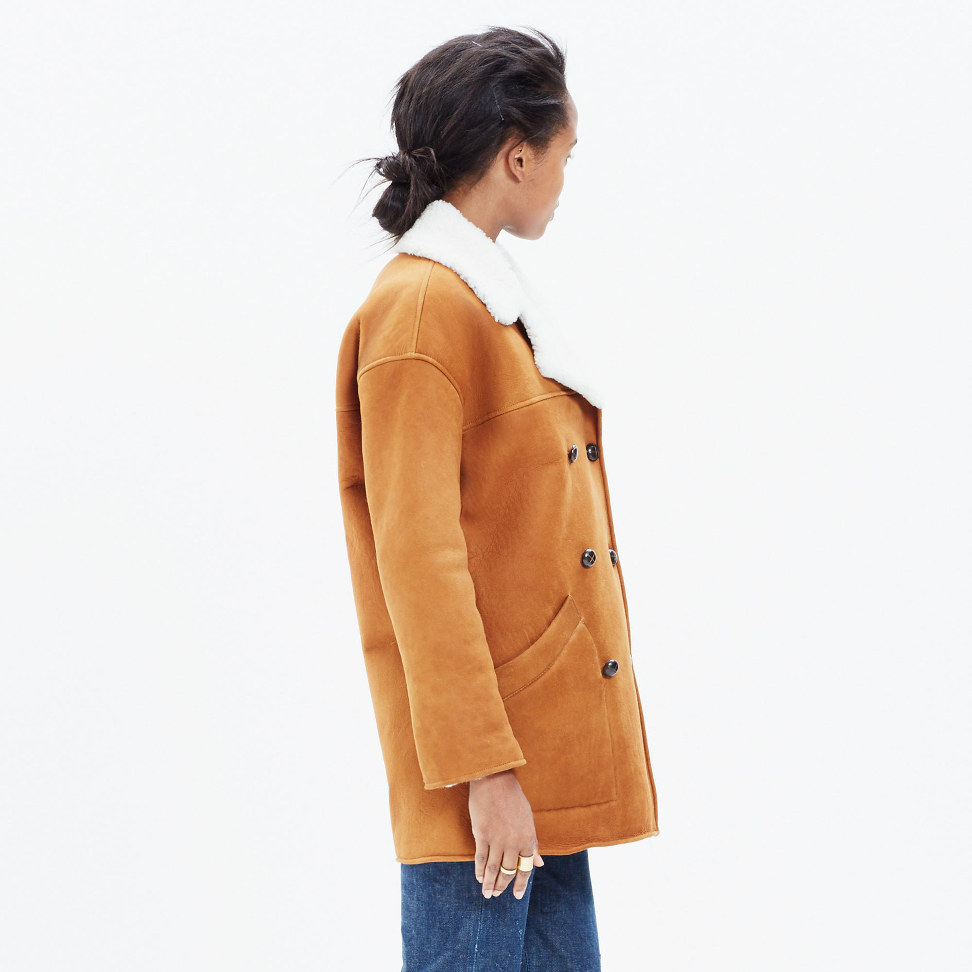 Shearling Car Coat : shopmadewell coats | Madewell