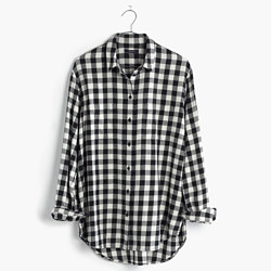 Flannel Oversized Boyshirt in Buffalo Check
