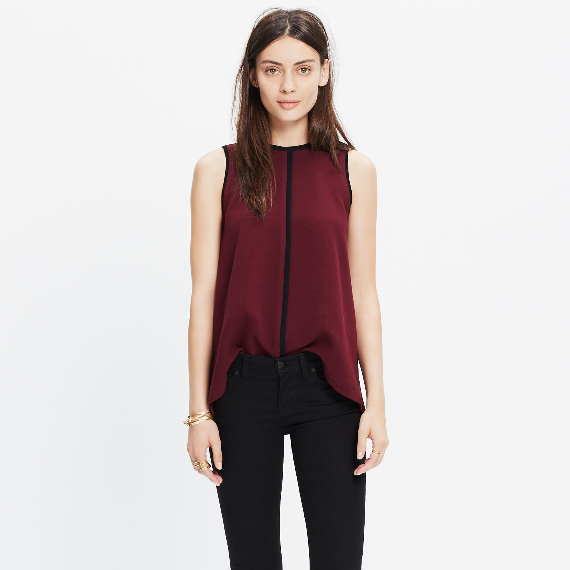 clothing lang draped crossover jersey wool product top sleeveless lyst in normal gallery drapes helmut black sonar