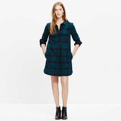 Latitude Shirtdress in Alma Plaid