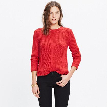 Hexcomb Texture Sweater