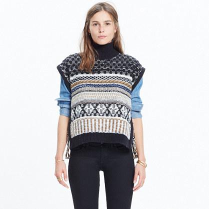 Side-Tie Sweater-Vest : turtlenecks | Madewell