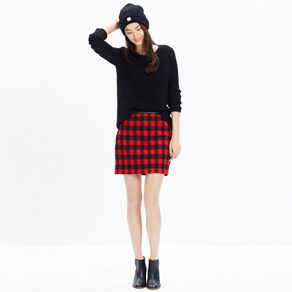Gamine Mini Skirt in Buffalo Check : mini | Madewell