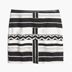 Gamine Mini Skirt in Geo Jacquard