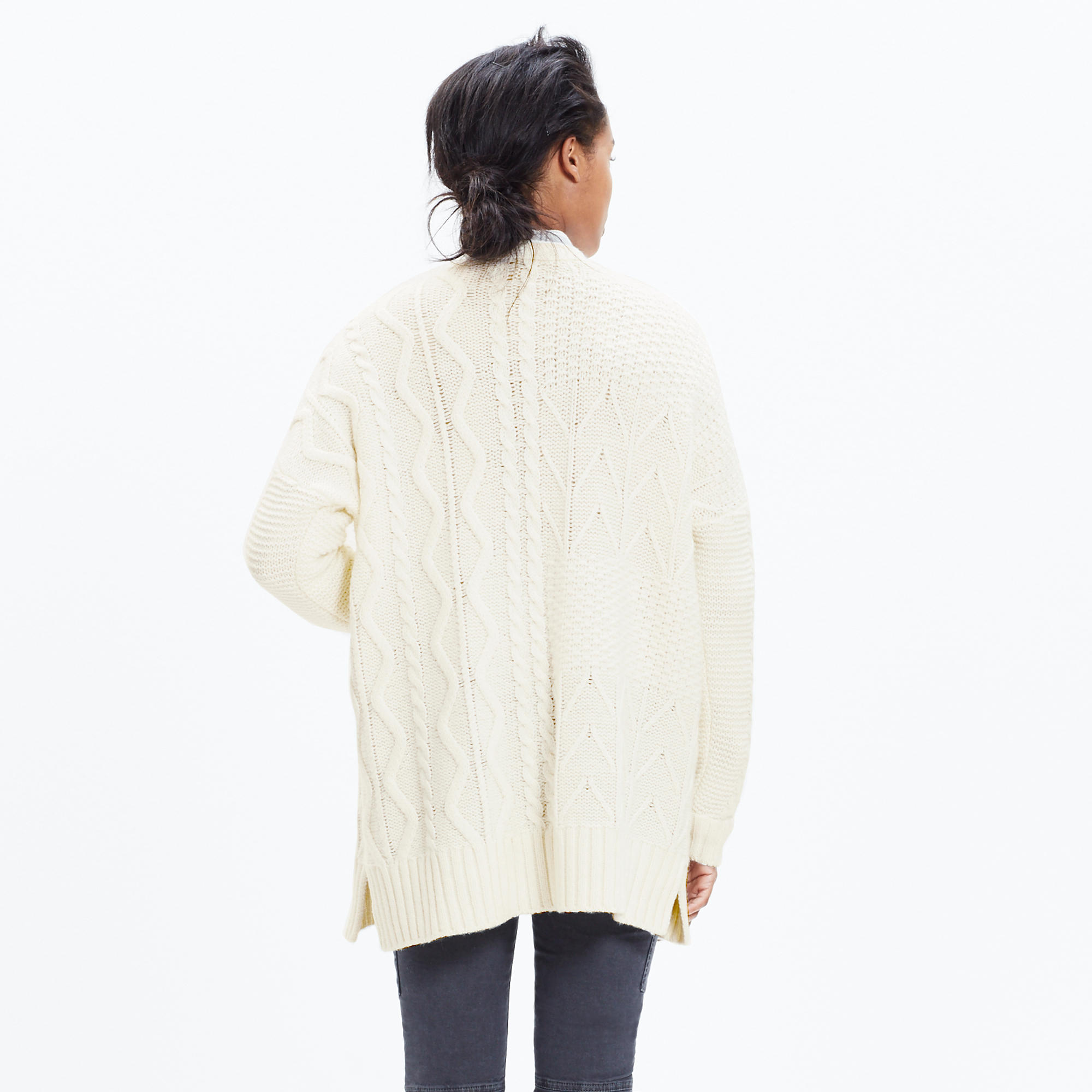 Panelstitch Cardigan Sweater : shopmadewell cardigans & sweater ...