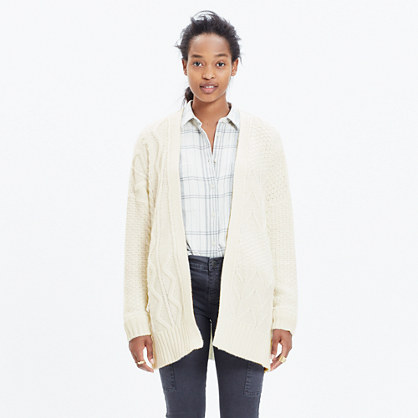 Panelstitch Cardigan Sweater