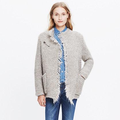 Fringe Open Cardigan Sweater