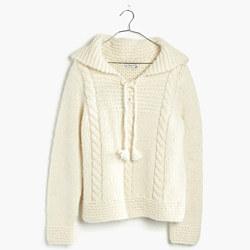 Handknit Hoodie Sweater