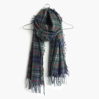 Blanket Scarf in Canton Plaid